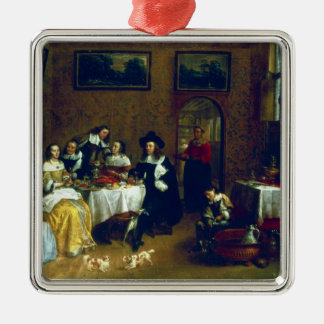 A Noble Family Dining Christmas Ornament