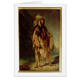 A North American Indian in an Extensive Landscape, Greeting Card