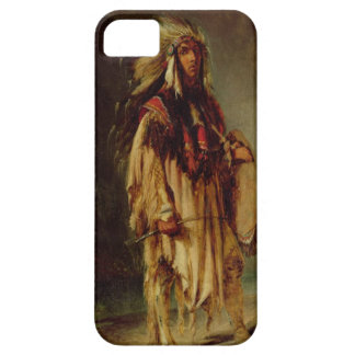A North American Indian in an Extensive Landscape, iPhone 5 Cases