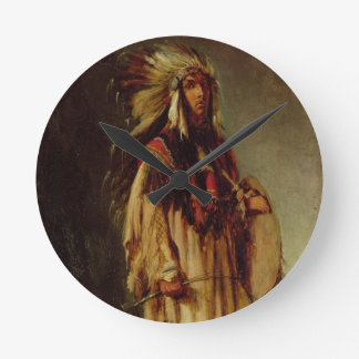 A North American Indian in an Extensive Landscape, Clocks