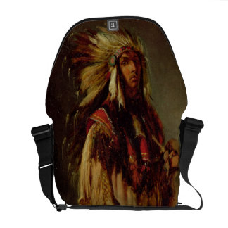 A North American Indian in an Extensive Landscape, Courier Bags