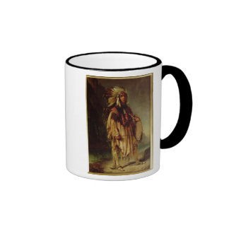 A North American Indian in an Extensive Landscape, Coffee Mugs