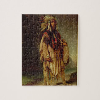 A North American Indian in an Extensive Landscape, Jigsaw Puzzles