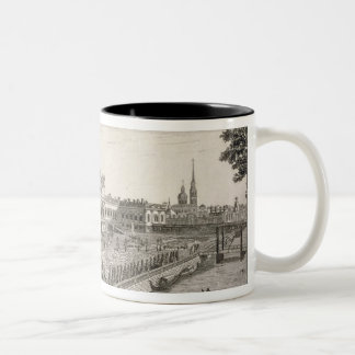 A North West View of the Summer Palace of Her Impe Two-Tone Coffee Mug