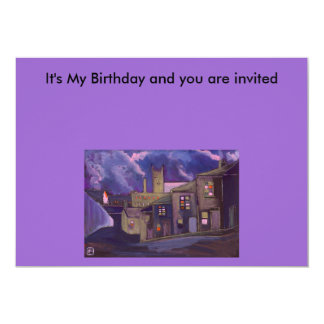 A Northern Market Town 13 Cm X 18 Cm Invitation Card