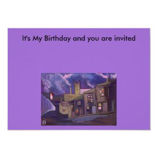 A Northern Market Town 13 Cm X 18 Cm Invitation Card