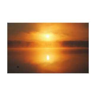 A Northern SunRise in the Morning Canvas Print