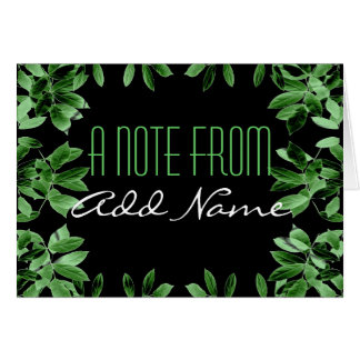 A Note From Green Leaves Notecards Greeting Cards