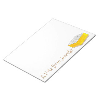 A Note from Personalized Yellow Lemon Square Bar