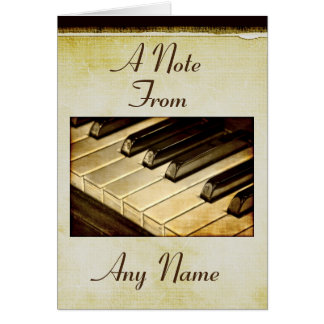 A Note From Piano Keys Note Cards