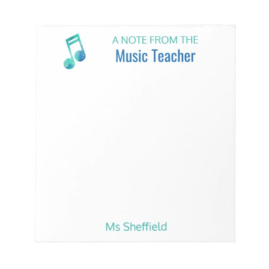 A Note From The Music Teacher Personalised Musical