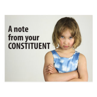A note from your constituent Women's March 10/100 Postcard