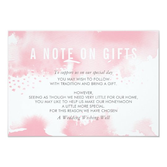 A NOTE ON GIFTS stylish watercolor blush pink