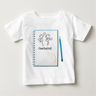 A notebook with a cheerleading design t-shirts
