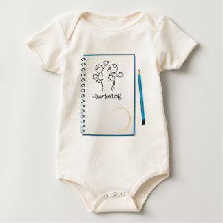 A notebook with a cheerleading design romper