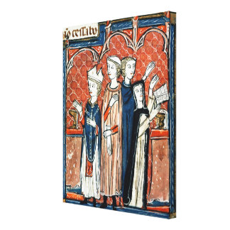 A nun taking her vows and mass gallery wrapped canvas