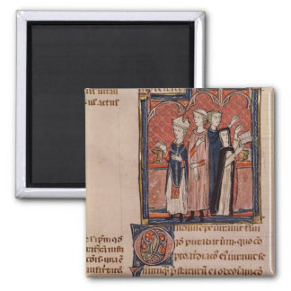 A nun taking her vows and mass square magnet