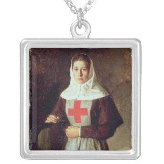 A Nurse, 1886 Silver Plated Necklace