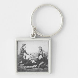 A Nurse Tending a Wounded Man Key Ring