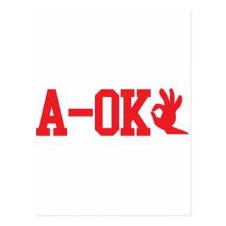 A OK POSTCARD
