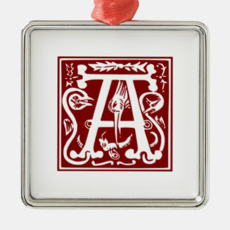 A - Ornamental Alphabet Christmas Ornament