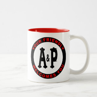 A&P Illinois Grocery Stores Two-Tone Coffee Mug