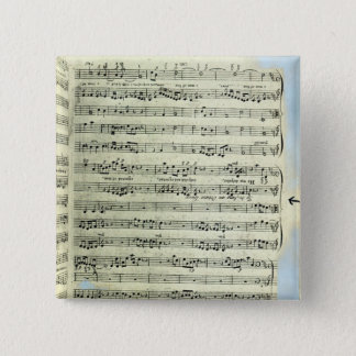 A page from one of the only two copies 15 cm square badge