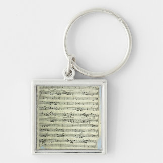 A page from one of the only two copies Silver-Colored square key ring