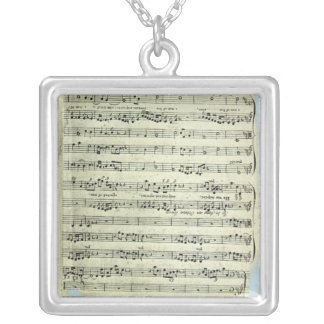 A page from one of the only two copies silver plated necklace