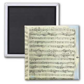 A page from one of the only two copies square magnet