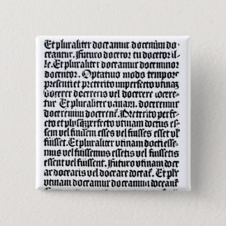 A page of the 'Grammaire Latine' 15 Cm Square Badge