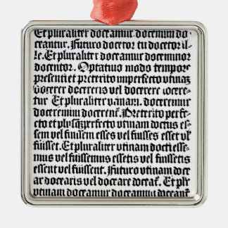 A page of the 'Grammaire Latine' Christmas Ornament