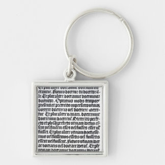 A page of the 'Grammaire Latine' Silver-Colored Square Key Ring