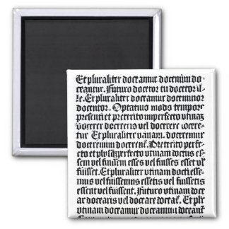 A page of the 'Grammaire Latine' Square Magnet