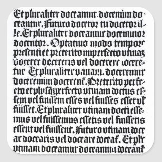 A page of the 'Grammaire Latine' Square Sticker