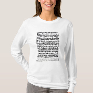 A page of the 'Grammaire Latine' T-Shirt