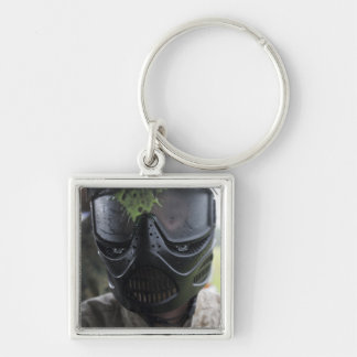 A paintball round key ring