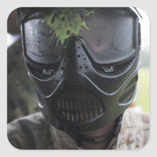 A paintball round square sticker