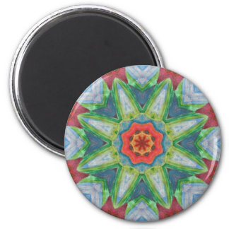 A Painted Mandala 6 Cm Round Magnet