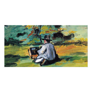 A Painter At Work By Paul Cézanne Best Quality Custom Photo Card