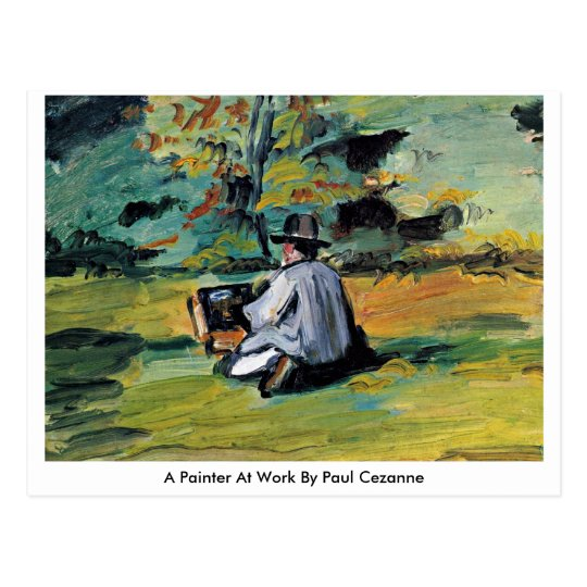 A Painter At Work By Paul Cezanne Postcard