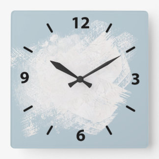 A Painters light blue Clocks