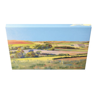 A Painting of the Sussex Downs, England Canvas Print