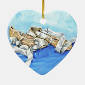 A Pair of Ballet Shoes Ceramic Heart Decoration