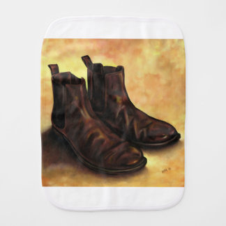 A Pair of Chelsea Boots Baby Burp Cloths