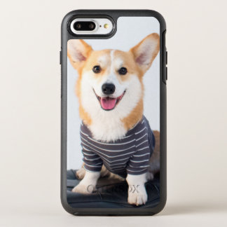 A Pair Of Corgis Sitting On A Bench OtterBox Symmetry iPhone 8 Plus/7 Plus Case