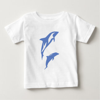 A Pair of Dolphins Baby T-Shirt
