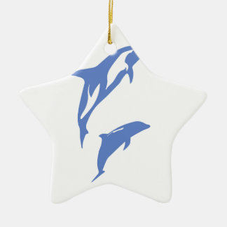 A Pair of Dolphins Ceramic Star Decoration