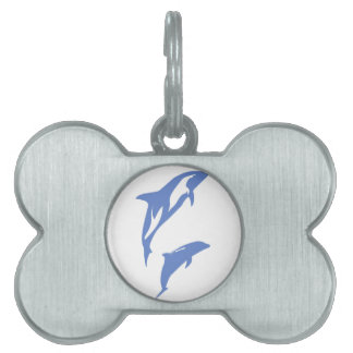 A Pair of Dolphins Pet Name Tag
