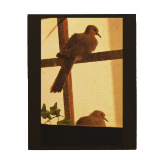 A Pair of Doves Wood Print